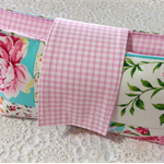 Nappy Wallet - Patchwork Roses and Gingham Check - Suit Girls