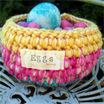Hand Crochet Easter Egg Basket