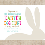 Printable Custom Easter Egg Hunt Invitation - Bunny Ears