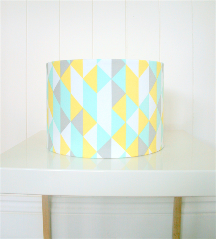 Mint yellow grey lampshade for table or floor lamps seconds mozeypictures Choice Image