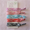 Lace Print Elastic Ponytail Holders - Hair Ties