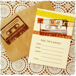 Mixed Tape 4x6 Invitations