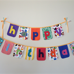 'superhero' happy birthday bunting banner flag party decorations - ready to send