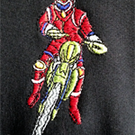Track Top - With a Dirt Bike embroidered on. Size 1