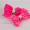 Sweet Hot Pink Bow Hair Clips - 2pk