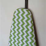 Ironing Board Cover - Green Chevron zig zag