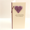wedding card for money or voucher purple
