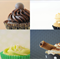 Cupcake Photography, Set of 4 Prints, 4 x 6 Photos, Instant Art Collection