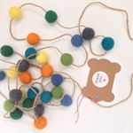 Handmade Felt Ball Garland Cute Custom Made