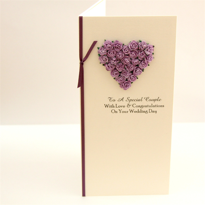 WEDDING card for money, voucher, gift card, wishing well mauve paper ...