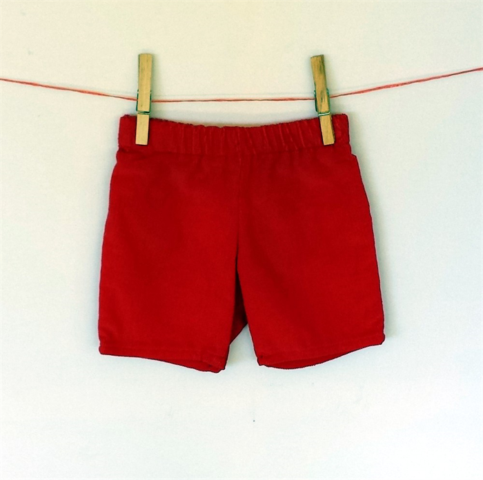 Sizes 000 & 00 avail. Red corduroy baby boy shorts with black ...