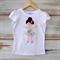 Ballerina Beauty Applique tee short or long sleeve sizes 1-7