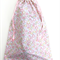 Handmade Pink Heart Print Toy/Gift/Storage Drawstring Bag
