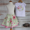 """Miss Bunny"" Set - Applique top and Matching Skirt 