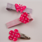 Hot Pink Butterfly, Flower and Heart Mixed Hair Clips 3pk Set
