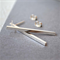 Long Bar Studs, Solid Sterling Silver (3.5cm)