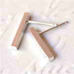 Midi Bar Studs, Solid Sterling Silver (1.5cm)