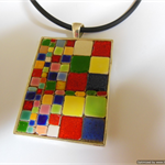 "Pendant, ""Morocco"", Glazed tiles, multi-coloured, oblong"