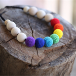 Rainbow Mama Necklace - crocheted teething necklace