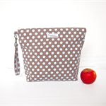 Ex-Large Toiletry Bag / Wet Bag with a Wristlet - Choose Your Polka Dot Colour!