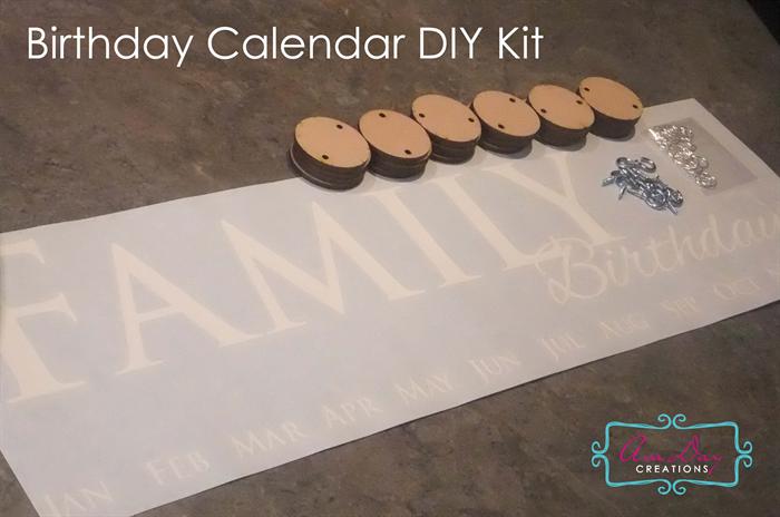 Diy Birthday Calendar : Birthday wall calendar diy kit avaday creations madeit