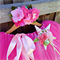 Pink deluxe floor length  tutu, wand and fairy flower crown set.