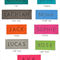 Personalisation Name Tag Option For LARGE UNLINED Drawstring Bags.