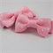 So cute soft pink and white polka bow baby hair snap clips