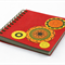 Mini Square Notebook Eco Recycled Funky Circles Fireball