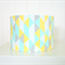Mint, yellow, grey lampshade for table or floor lamps
