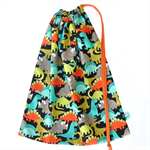 Cute Dinosaurs. Large Drawstring Bag. Perfect for School or Kindy Books.