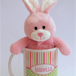 Personalised Girls Mug-Stripes and Polka Dots