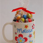 Personalised Girls Mug-Bright Flowers