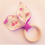 'Calico Flowers' Bunny Teething Ring