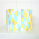 Mint, yellow, grey lampshade for table or floor lamps SECONDS