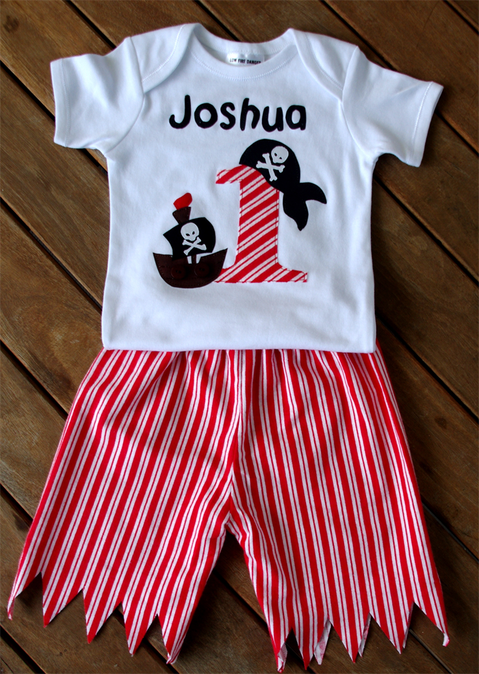 Pirate 1st Birthday Outfit Onesie T Shirt Clothes All