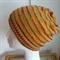 Hand Knit, Child / Teen, Wool Slouchie Beanie Hat, Mustard Yellow / Red / Green