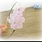 Daphne Flower Girl Headband Bridal Pink Vintage Lace Floral Flower Bridesmaid