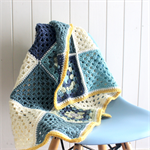Crochet cuddle blanket / pram, stroller, bassinette / pure wool, baby