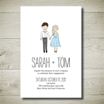 THE 2 OF US printable custom invitation