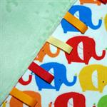 Tag Toy/Comforter - Elephants