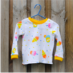 Gorgeous girls Popsicle long sleeve stretch tee size 0