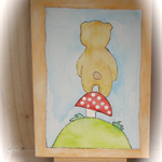 Teddy Bear Watercolour Art Original