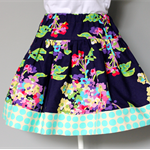 ** FREE SHIPPING - Ready to post ** Size 4 Floral Spotty Twirly Skirt