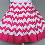 ** FREE SHIPPING - Ready to post ** Size 5 Pink Chevron Twirly Skirt