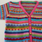 Pink Funky  Cardigan - Size 1-2 years - Hand knitted