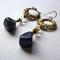 Lapis lazuli nuggets dangle earrings