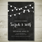 STRING LIGHTS (CHALKBOARD) printable custom invitation