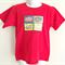Retro Vintage Print Red T-shirt