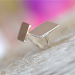 Rhombus/Deconstructed Chevron Sterling Silver stud earrings